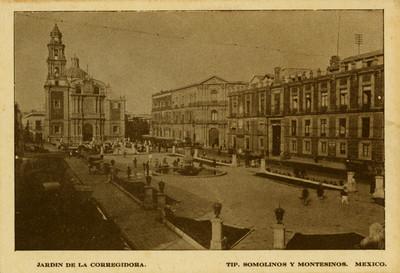 """""""Jardín de la Corregidora"""", tarjeta postal"""