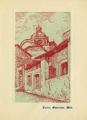 Calle de Taxco, tarjeta navideña