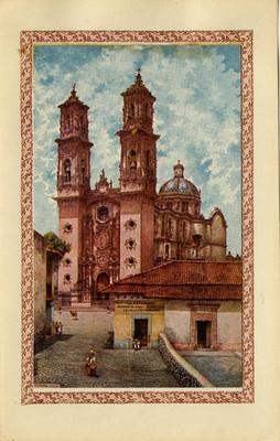 Iglesia de Santa Prisca en Taxco, tarjeta postal