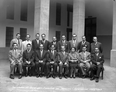 Estudiantes del doctorado en derecho generación 1952-1953