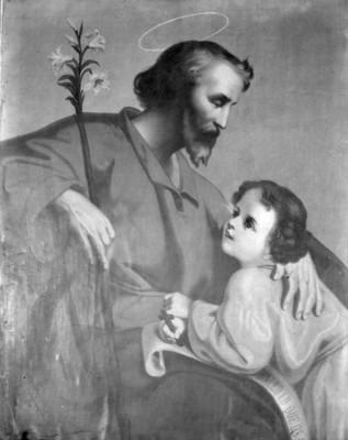 Imagen de San José y el niño Jesús