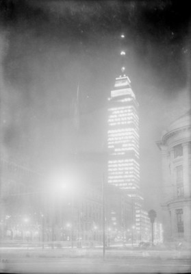 Torre Latinoamericana, exterior, vista parcial
