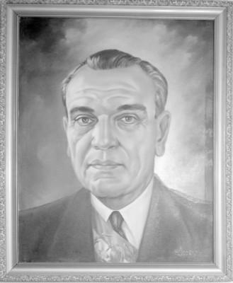 Adolfo Ruiz Cortines, reprografía de una pintura