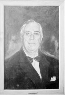 Franklin D. Roosevelt, reprografía de una pintura