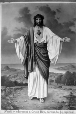 """Cristo Rey"", imagen religiosa, reprografía"