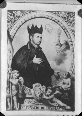 """""""San Ignacio de Loyola"""", pintura, reprografía"""