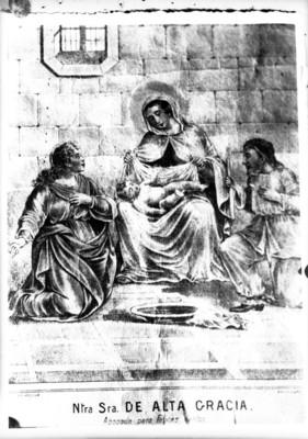 """""""Ntra. Sra. de Alta Gracia"""", pintura, reprografía"""