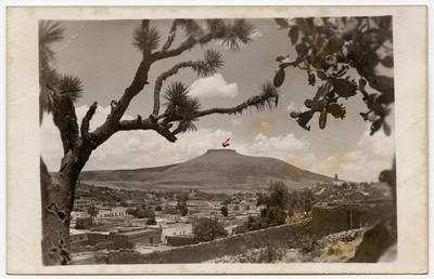 Paisaje y poblado, tarjeta postal