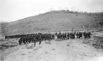 Cuerpo militar representa la batalla de Puebla