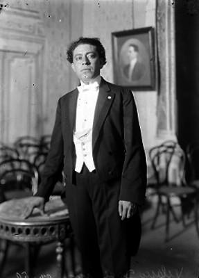 José Luis Velasco, Periodista en un salón, retrato