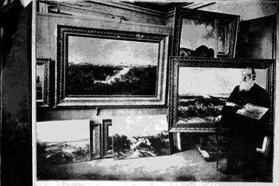 José Maria Velasco en su estudio, retrato