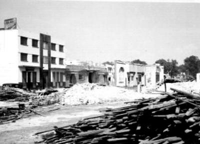 Paredones demolidos durante la reconstrucción de la estación Colonia