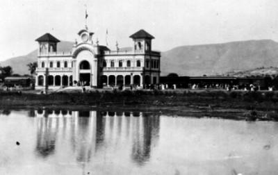 Estación de Ferrocarriles en Puebla, vista general