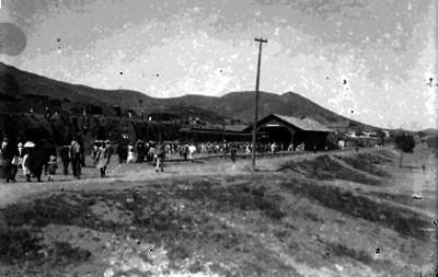 Estación de Parral ocupada por Francisco Villa