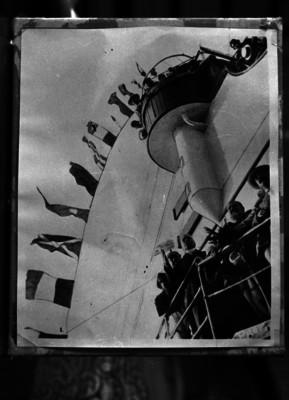 Porfirio Díaz y acompañantes a bordo del Ipiranga