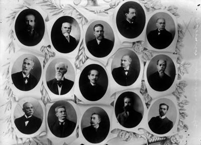 Magistrados de la Suprema Corte de Justicia y Secretarios de Estado, mosaico fotográfico