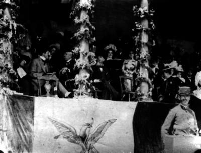 Porfirio Díaz, Bernardo Reyes y Georges Charles Benoit, presiden las fiestas de la colonia francesa