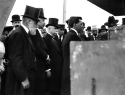 Ramón Corral durante la inauguración de las ampliaciones de la penitenciaría del D. F