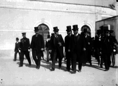 Porfirio Díaz y comitiva en la exposición ganadera de San Jacinto