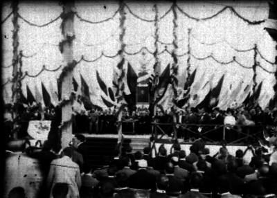 Porfirio Díaz preside ceremonia con motivo de las Fiestas del Centenario
