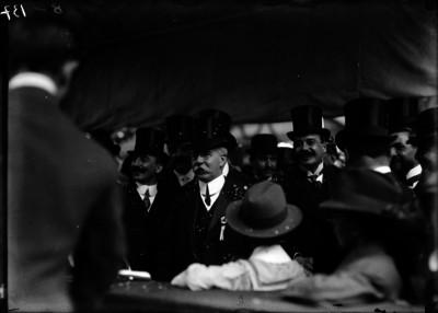 Francisco León de la Barra durante la fiesta de los franceses en el Tivoli