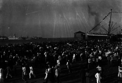 Puerto de Veracruz durante el arribo de Francisco I. Madero procedente de Europa
