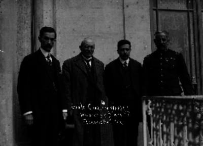 Manuel Mondragón, Victoriano Huerta, Félix Díaz y Aureliano Blanquet, retrato de grupo
