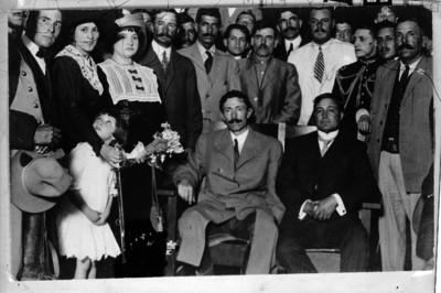 Pascual Orozco y Enrique Zepeda durante las conferencias de rendición ante el gobierno de Victoriano Huerta