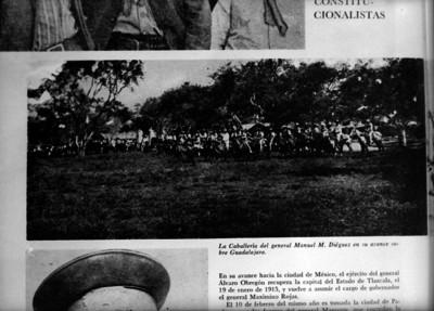 Caballería de Manuel M. Diéguez, en su avance sobre Guadalajara, reprografía bibliográfica