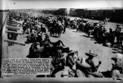 Miembros de la Brigada Juárez comandada por Calixto Contreras