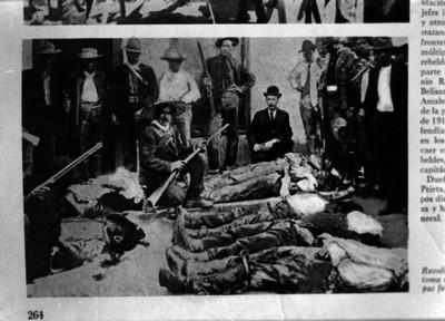 Revolucionarios muertos en la toma de Agua Prieta, reprografía bibliográfica
