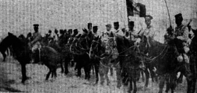 Caballería del Ejército Nacional antes de entrar a compaña