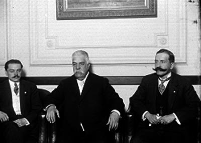 Enrique Bordes, Manuel de la Hoz y Manuel Malo y Juvera, retrato de grupo