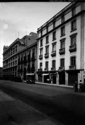 Hotel Iturbide, vista exterior de su fachada posterior