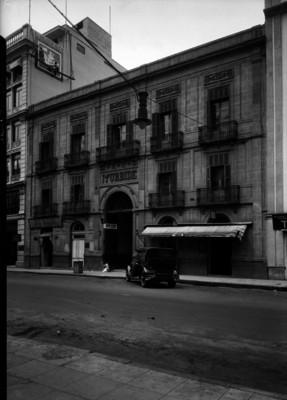 Hotel Iturbide, fachada oriente