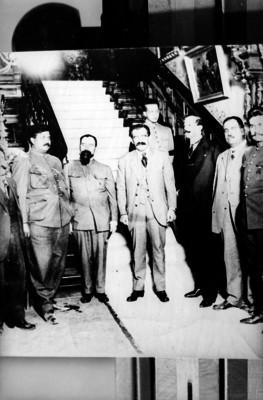 Pablo González, Francisco Artigas, Heriberto Jara, Teodoro Elizondo, Alfredo Rodrígez, retrato de grupo
