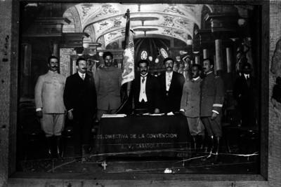 Mesa directiva de la Convención de Aguascalientes, retrato de grupo