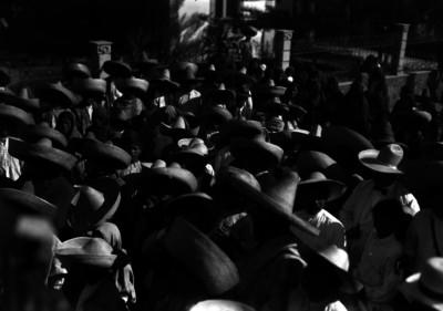 Campesinos reunidos durante la Convención de Aguascalientes