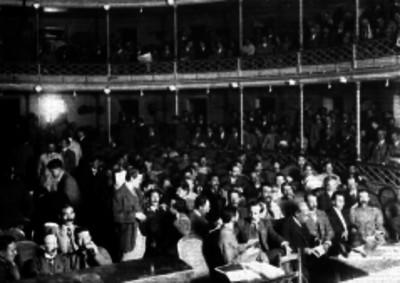 Roque González Garza con delegados del Ejército del Sur