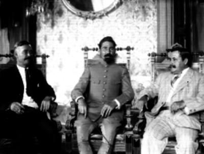 Fidel Ávila, Guillermo García Aragón y Alberto Fuentes D. miembros de la Junta Neutralizadora