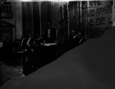 Venustiano Carranza después de haber recibido la Constitución de 1917