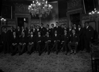 Alfonso Cravioto, Félix F. Palavicini Y Rafael Nieto en Palacio Nacional
