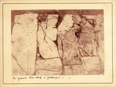 """Relieves antropomorfos adosados en El Palacio de Palenque, """"du grand bas relief á Palenque"""""""
