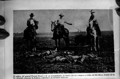 Cadáveres de Pascual Orozco y sus acompañantes