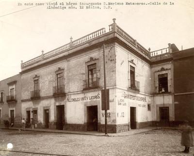 Casa número 12 de la calle de la Alhóndiga, donde vivió Matamoros