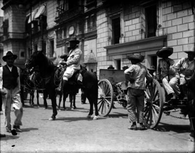 Soldados constitucionalistas en la ciudad de México