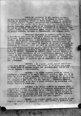 Página 1 del tratado firmando entre Rafael Zubarán C. y Adolfo de la Huerta