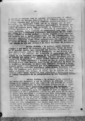 Página 3 del tratado firmado entre Rafael Zubarán C. y Adolfo de la Huerta