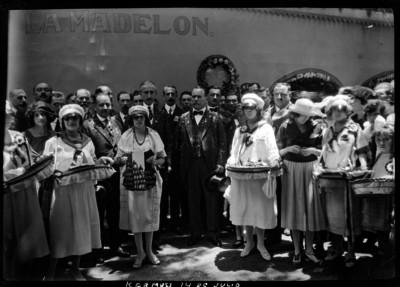 Alvaro Obregón en el Tívoli del Eliseo durante las fiestas del 14 de Julio
