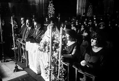 Matrimonio religioso de Fernando Torreblanca y Hortencia Elías Calles